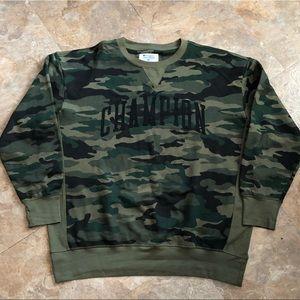 Champion Army Camouflage Crewneck Sweater Size 2XL